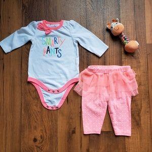 SALE Cat & Jack • 3M Baby Girl Set